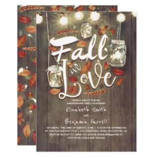 Fall in Love Rustic Engagement Party Invitations