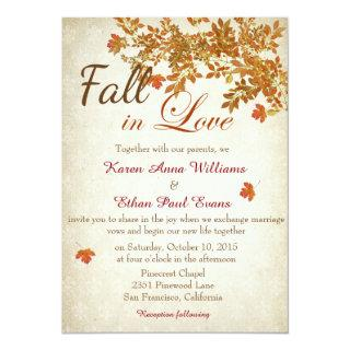Fall In Love Rustic Wedding Invitations