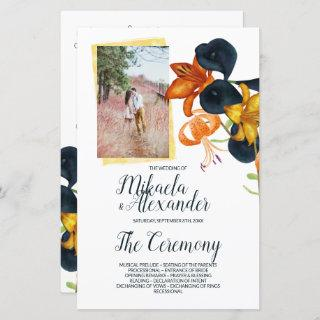 Fall Lilies Wedding Program