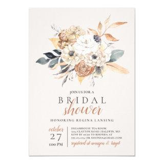 Fall Watercolor  Botanical Bridal Shower Invitations
