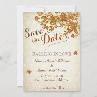 Falling in Love Rustic Save The Date