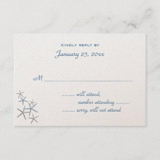 Falling Stars Small Wedding Reply Enclosure RSVP Card