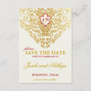 Fancy Flourishes Golden Wedding Save the Dates Save The Date