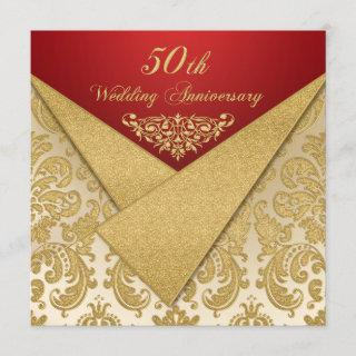 FAUX Flaps Gold Damask 50th Anniversary