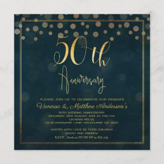 Faux Gold Calligraphy 50th Anniversary