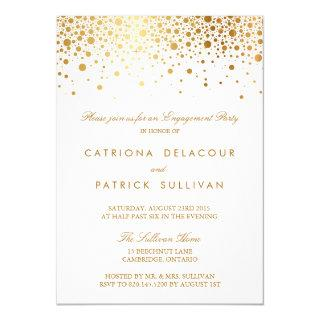 Faux Gold Foil Elegant Engagement Party Invitations