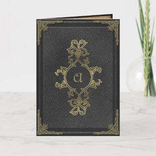 Faux Vintage Book Cover Gothic Wedding Invitation