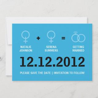 Female Gay Marriage Save the Date