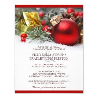 Festive Christmas Engagement Party Invitations