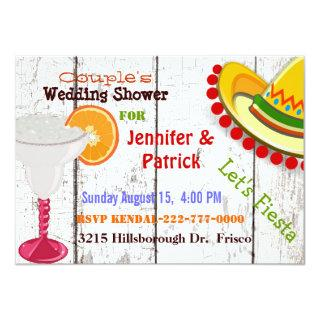 Festive Mexican Fiesta Couple's Wedding Shower Invitations