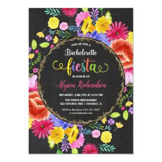 Fiesta Bachelorette Party, Mexican theme floral Invitation