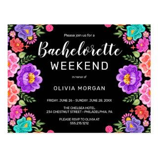 Fiesta Bachelorette Weekend Party Invitation Postcard