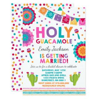 Fiesta Bridal Shower Invitations Holy Guacamole