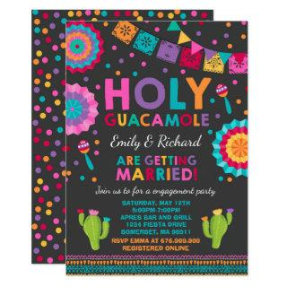 Fiesta Engagement Party Invitation Holy Guacamole
