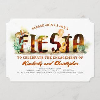 Fiesta Engagement Party Invitations Mexican Party