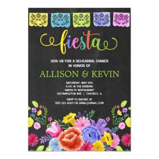 Fiesta rehearsal dinner, Mexican theme floral Invitation