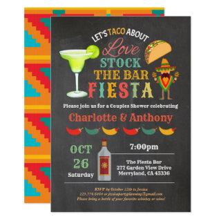 Fiesta stock the bar couples shower chalkboard invitation