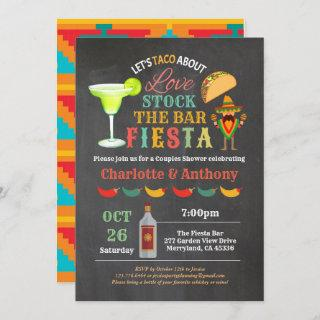 Fiesta stock the bar couples shower chalkboard Invitations