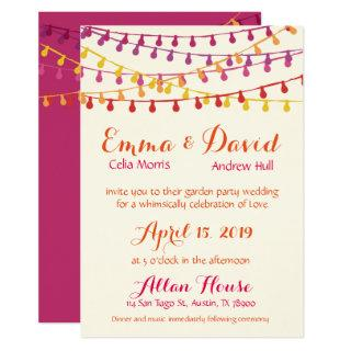 Fiesta Wedding Invitations Colorful Mexican Party