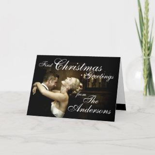 First Christmas Couple's Photo Card