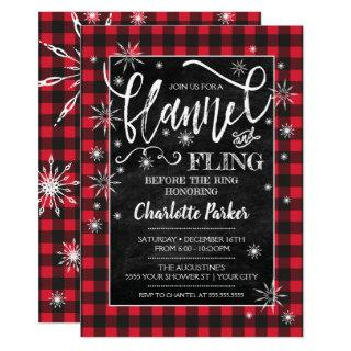 Flannel & Fling Before the Ring Shower Invitations