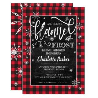 Flannel & Frost Bridal Shower Invitations