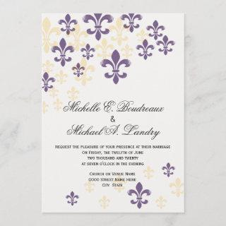Fleur de Lis Cascade Informal Wedding 1 Invitations