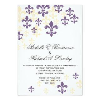Fleur de Lis Cascade Informal Wedding 1 Invitation
