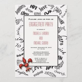 Fleur de lis Heartfelt Expressions Engagement Invitations