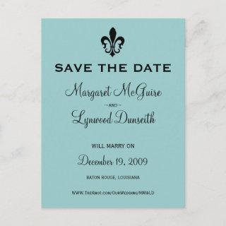 Fleur de lis Save the Date Postcard