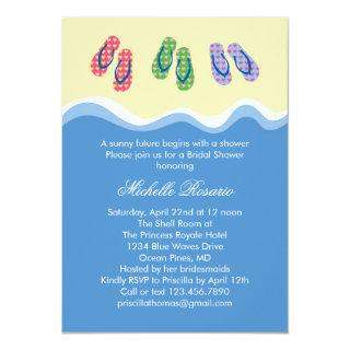 Flip Flops Beach Bridal Shower Invitations