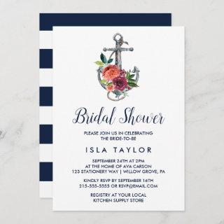 Floral Anchor | Autumn Bridal Shower Invitations