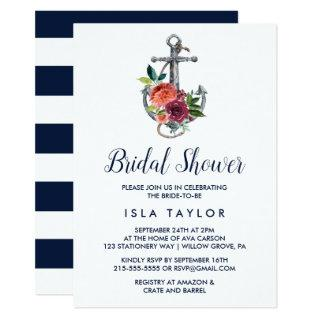 Floral Anchor | Autumn Bridal Shower Invitation