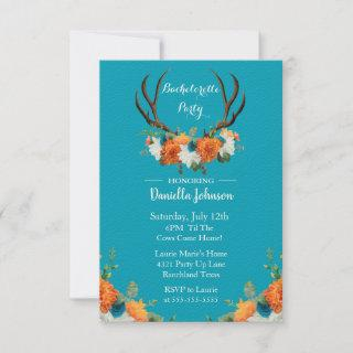 Floral Antlers Bachelorette  Party