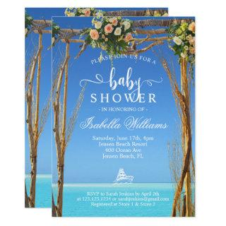 Floral Boho Summer Beach Gate Baby Shower Invitation