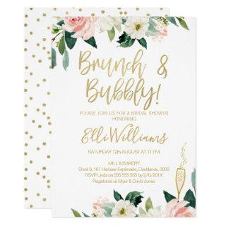 Floral Bridal & Bubbly Bridal Shower Invitation