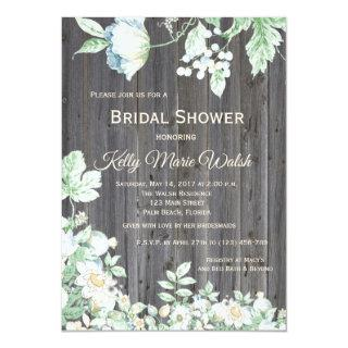 Floral Country Rustic Bridal Shower Invitations