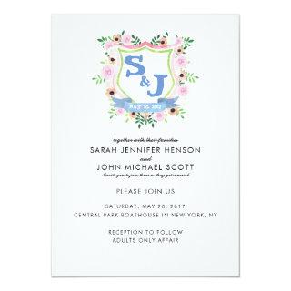 Floral Crest Wedding Invitations