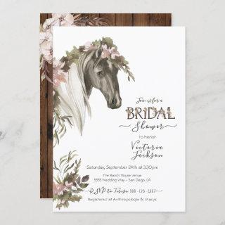 Floral Horse Ranch Bridal Shower Invitations