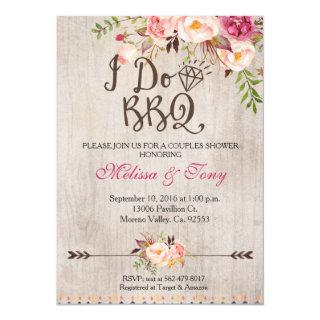 Floral I Do BBQ Barbecue Shower Invitations