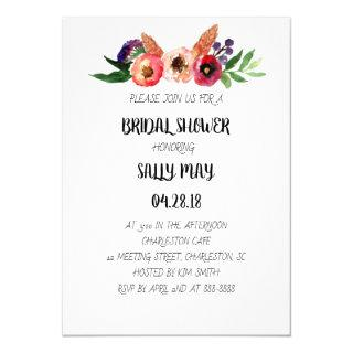 Floral Nature Outdoor Bridal Shower Invitation