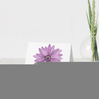 Floral Purple Daisy Flower Blank Note Cards