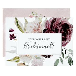 Floral Romance Bridesmaid Proposal Card
