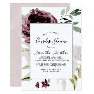 Floral Romance Couples Shower Invitations