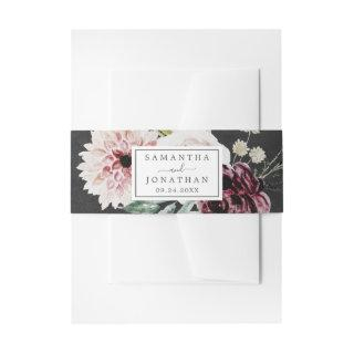 Floral Romance | Gray Wedding Invitations Belly Band
