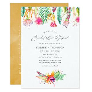 Floral Tropical Summer Bachelorette Weekend Invitations
