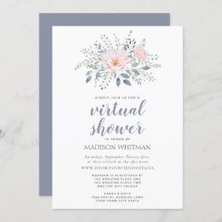Floral Virtual Shower Invitation