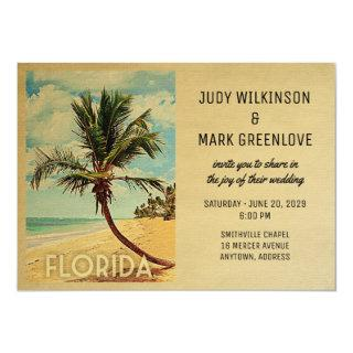 Florida Wedding Invitations Beach Palm Tree