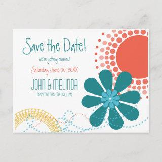 Flower Child Summer Save the Date ID677 Announcement Postcard
