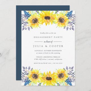 Flowerfields Engagement Party Invitation